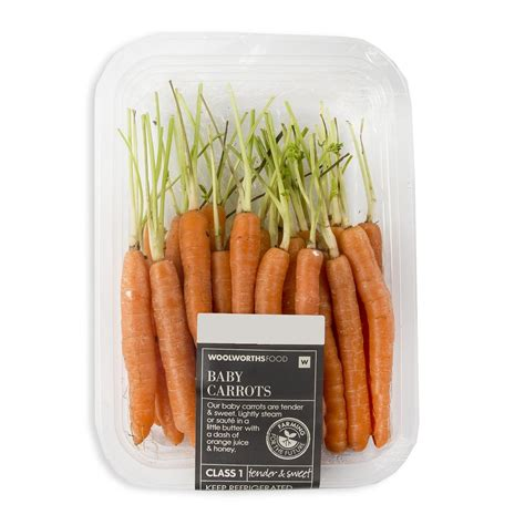 coding for carrots baby carrots min 200g woolworths co za