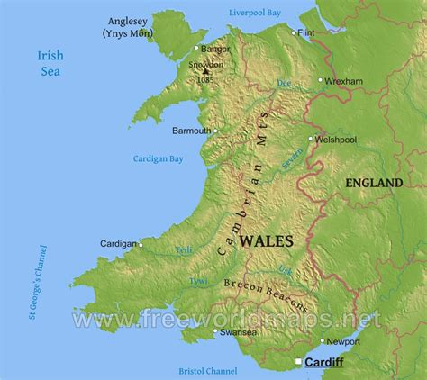united kingdom map with mountains wales physical map in roundtripticket me