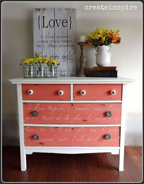 Coral Painted Dresser by Best 25 Coral Dresser Ideas On Coral Painted Dressers Coral Painted Furniture And