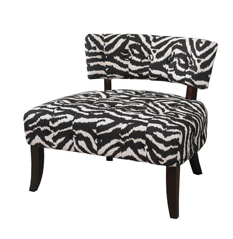 animal print chairs living room l powell quot lady slipper quot zebra print accent chair home