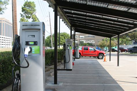 Electric Car Charging Ports by City And Corporate Sustainability Burn Bright In Houston