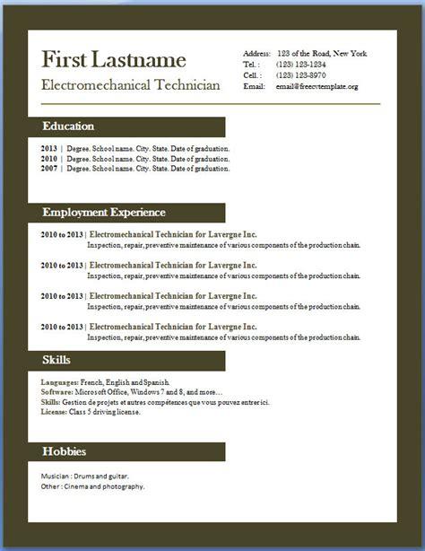 Free CV templates #29 to 35 ? Free CV Template dot Org
