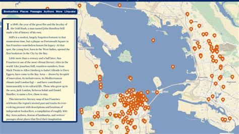 san francisco map with landmarks 82 best images about san francisco literary landmarks on