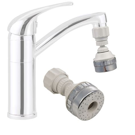 kitchen faucet swivel aerator large eco water saving kitchen tap faucet aerator 360 176 swivel adjustable nozzle ebay