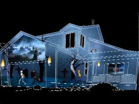 Christmas Decorations For Outside Your House - 2011 halloween house projection video finished youtube