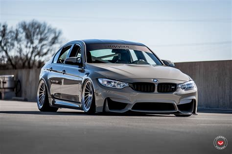 Grigio Medio Bmw M3 Slammed On Vossen Wheels