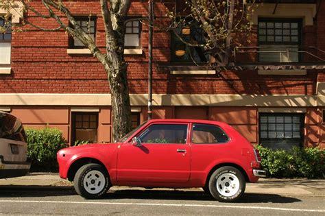 honda civic 77 parked cars 1977 honda civic