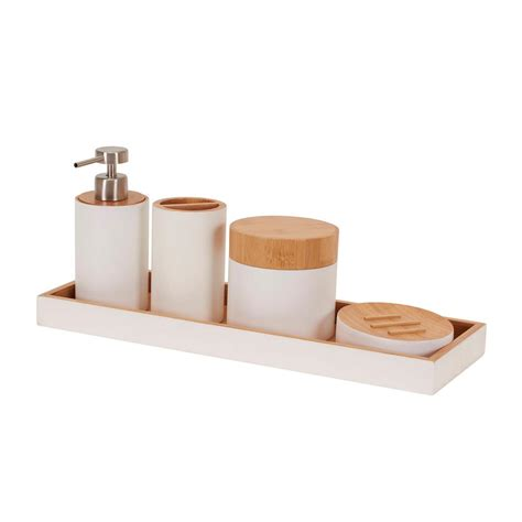 kingston brass 5 bathroom accessory set in polished