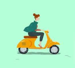 animasi bergerak motor vespa unik animasi bergerak lucu terbaru