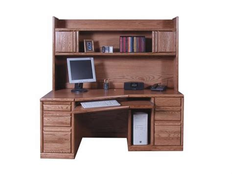 glendale laptop desk armoire forest designs bullnose angled desk hutch oak arizona