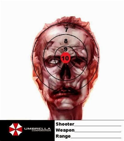 printable head targets ask a firearms question firearm forum question zombie