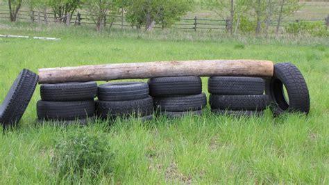 Equine Home Decor diy tire horse jump petdiys com