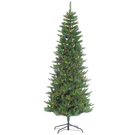 sterling 7 5 ft pre lit narrow augusta pine artificial