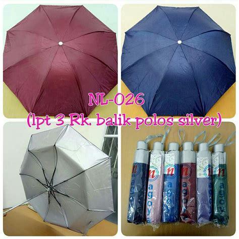 Berkualitas Payung Golf Otomatis Loreng Anti Uv Murah pl3003ng payung lipat 3 dengan sarung lapis silver pilih warna promosi payung