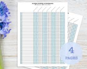 sunday school attendance template sunday school attendance sheet with birthday tracker