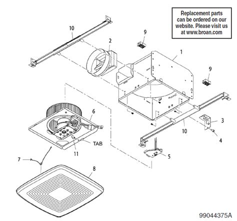 Usi Electric Motor Assembly Replacement Replacement Parts For Bathroom Exhaust Fans 28 Images