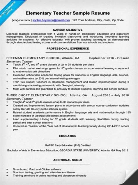 career objectives for teachers career objective for resume best resume collection