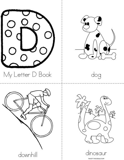 letters to my books my letter d book twisty noodle