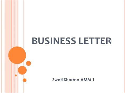 Business Letter Writing Slideshare business letter