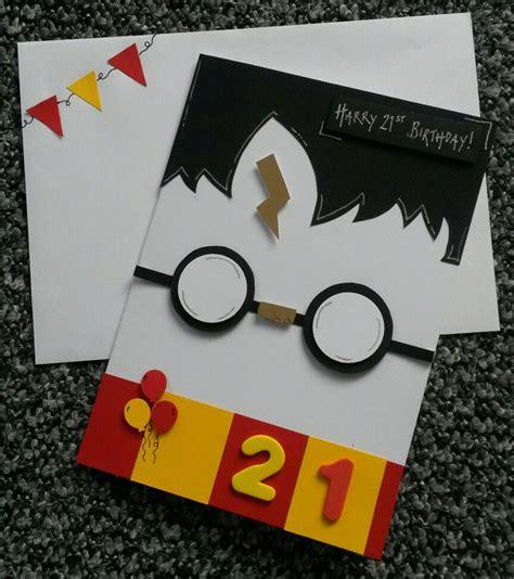 handmade birthday card stharry potter theme diy