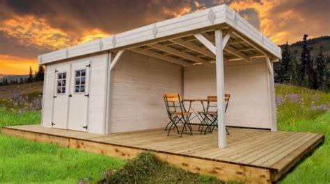 Dimensions Of 3 Car Garage abri de jardin bois monopente kemper avec pergola 7x4m