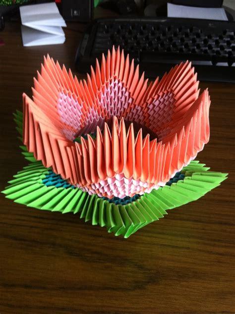 3d Origami Lotus Flower - lotus flower leaf album robin 3d origami