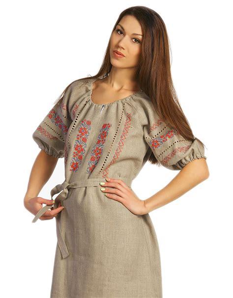 Sweater U Merah Jidnie Clothing linen dress ukrainian style rusclothing