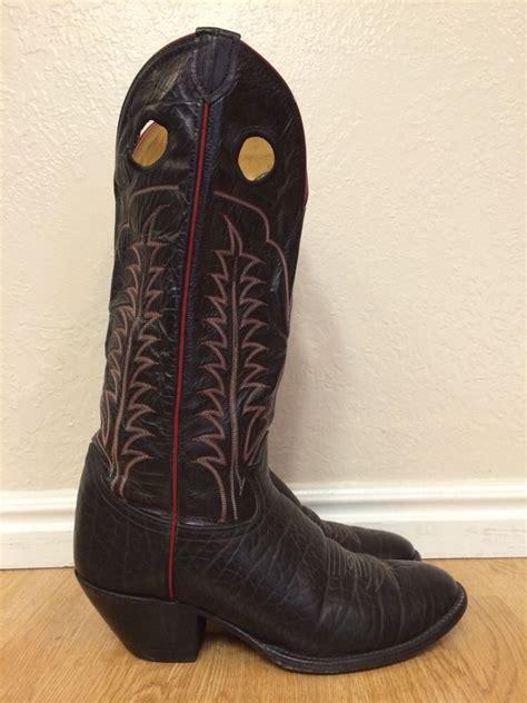 tony lama buckaroo boots mens vintage tony lama black label buckaroo cowboy boots
