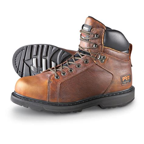 pro timberland work boots s timberland pro 174 steel toe 6 quot work boots brown