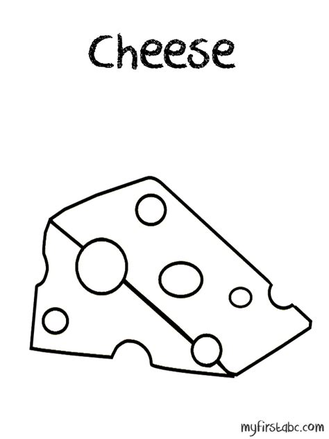 free coloring pages of cheese slice
