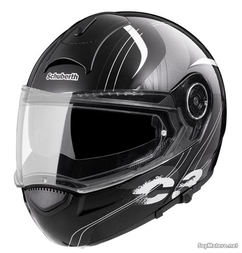 Helm Aufkleber Schuberth by Schuberth C3 Stripes Negro Brillo