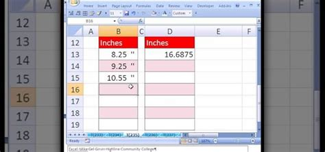 format excel for feet and inches fraction to decimal chart excel decimal charts and