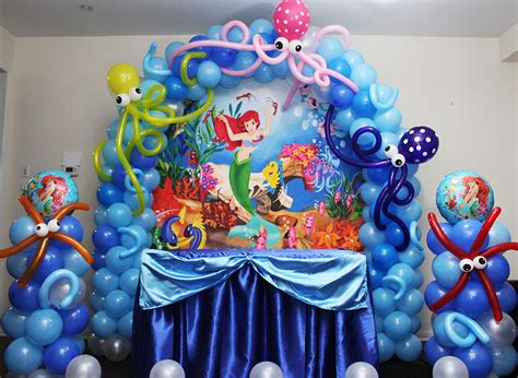 Diy Mickey Mouse Party Decorations Ariel Little Mermaid Theme Party Cyprus Bar Catering
