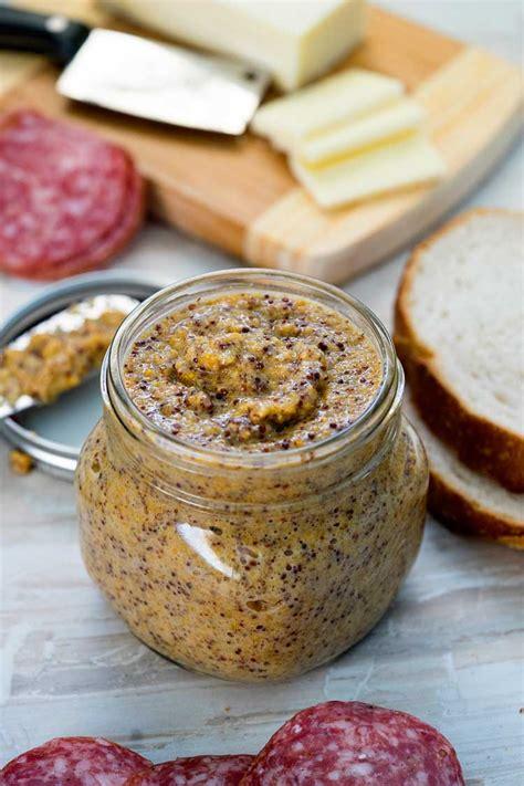 whole grain yellow mustard recipe whole grain mustard keviniscooking