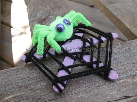 spider crafts craft stick spider web crafts by amanda