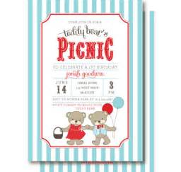 Teddy Picnic Invitation Template by Teddy Picnic Invitations Teddy S Birthday