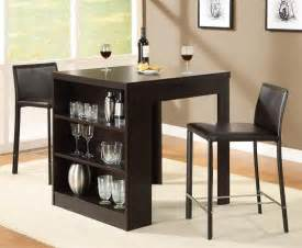 Dining Tables For Small Rooms Small Dining Table With Storage Shelf Home And Interior Design