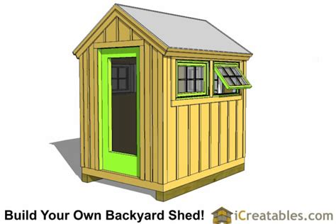 Shed Greenhouse Plans by 6x8 Greenhouse Shed Plans Storage Shed Plans