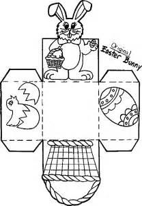 atividades de artes desenhos de cestas de pascoa para