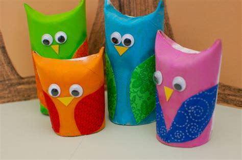 Owl Craft Toilet Paper Roll - 14 creative preschool activities for tip junkie