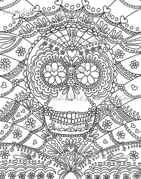 coloring books for grown ups dia de los muertos day of the dead sugar skulls printable coloring page