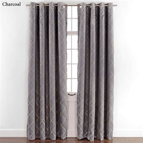 grommet curtain panels envision room darkening grommet curtain panels