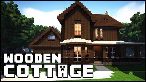 minecraft wooden cottage