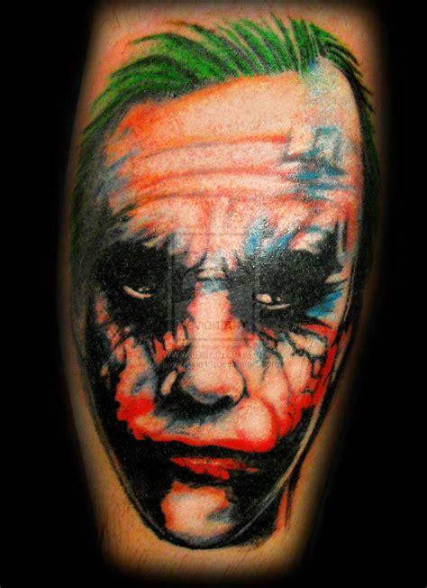 joker tattoo portrait the joker portrait tattoo design tattoos book 65 000