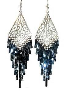 chandelier earrings black il 570xn 350343500