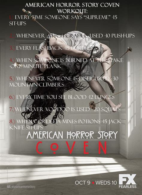 american horror story coven unleashes four new posters comingsoon net american horror story coven workout ahs fitness workout fιт ιѕ тнє иєω ѕєא у