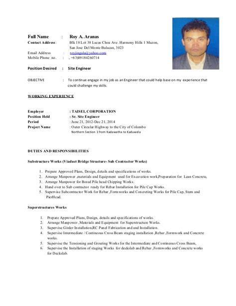 resume of mr roy2