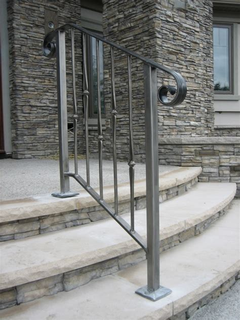 Exterior Stair Railings Curved Wrought Iron Stair Railings And Exterior Wrought