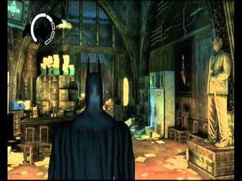 arkham asylum secret room batman arkham asylum easter egg secret room in wardens office arkham city teasers
