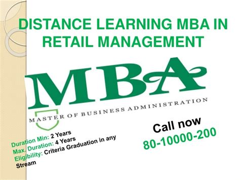 Mba In Retail Management Distance Learning by 80 1000 0200 Distance Learning Mba In Hospitality